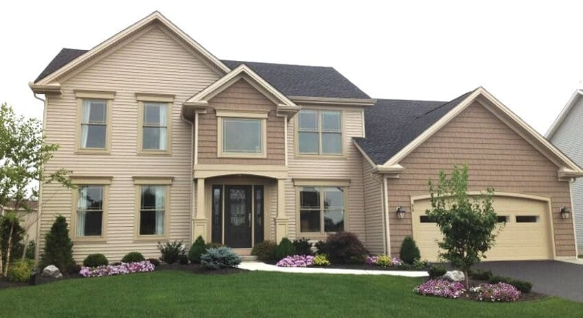 Advantage II Home Design with Light & Dark Brown Siding